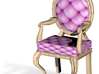 1:144 Micro Scale PinkPale Oak Louis XVI Chair 3d printed