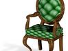 1:144 Micro Scale PineDark Oak Louis XVI Chair 3d printed