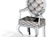 1:144 Micro Scale SilverWhite Louis XVI Oval Chair 3d printed