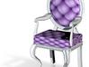 1:144 Micro Scale LavWhite LouisXVI OvalBack Chair 3d printed
