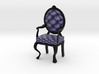 1:12 One Inch Scale NavyBlack Louis XVI Chair 3d printed
