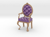 1:12 One Inch Scale LavPale Oak Louis XVI Chair 3d printed