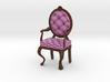 PinkDark Oak Louis XVI Oval Back Chair Half Scale 3d printed