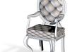 1:48 Quarter Scale SilverWhite Louis XVI Chair 3d printed