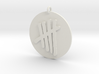 Tally Mark Emblem 1 Inch Pendant 3d printed