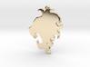 Roaring Lion Necklace Pendant 3d printed
