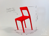 Uncomfortable chair No2 - 1:6 scale 3d printed