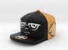 8-Bit King Face Pendant 3d printed