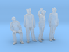 1:64 scale 4 figure Pack Eng, Conductor, Physicist 3d printed