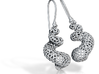 Turitella Voronoi Seashell Fishhook Earring Pair 3d printed