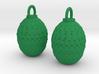 Dragon Egg Earrings 3d printed