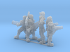 Female Miner Gang with Mixed weapons 3d printed