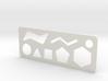 Organic Chemistry Stencil Keychain 3d printed