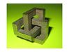 3D Architectural Delight (pocket size) 3d printed A print in Stainless Steel
