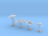 MicroFleet Starbases (4 pcs) 3d printed