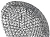 Space Frame Geodesic Sphere 3d printed cutaway view