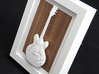 Gibson ES 335 guitar for photo frame 3d printed Frames and background pictures are not included!!Gibson ES 335 in a white frame with wood background