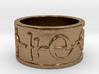 """""""Kaiidth"""" Vulcan Script Ring - Embossed Style 3d printed"""