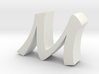 M Baoli Font 3d printed