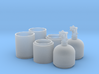 1/16 One Pair of Nitrous Bottles with Valves 3d printed