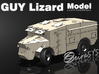 Guy Lizard Model - Single print 3d printed All parts in a single print