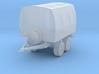 Military trailer tarped. 3d printed
