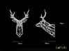 Dolls House Stag Deer Trophy Head Small facing for 3d printed