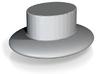 plain hat  3d printed