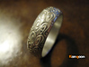 Sharon F. - Ring - US 9 - 19 mm inside diameter 3d printed Polished Silver printed