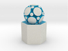LuminOrb 1.8 - MINDFULNESS 3d printed Shapeways render of MINDFULNESS on a matching color Column Display Stand (optional)
