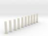 10 Sidewalk poles (1:87) 3d printed