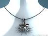 Facehugger Pendant 3d printed Model on my virtual display (sterling silver)