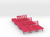 Poolside Chairs (9x), 1:48 dollhouse / O scale   3d printed