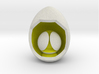 LuminOrb 1.7 - Egg Stand 3d printed Shapeways render of Egg Display Stand with PATIENCE in Full Color Sandstone