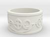 """IDIC"" Vulcan Script Ring - Embossed Style 3d printed"