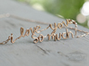 """""""i love you so much"""" Pendant 3d printed Raw Bronze"""